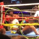 """في لقطة نادرة: ملاكمان يُسقطان بعضهما بالضربة """"القاضية"""""""