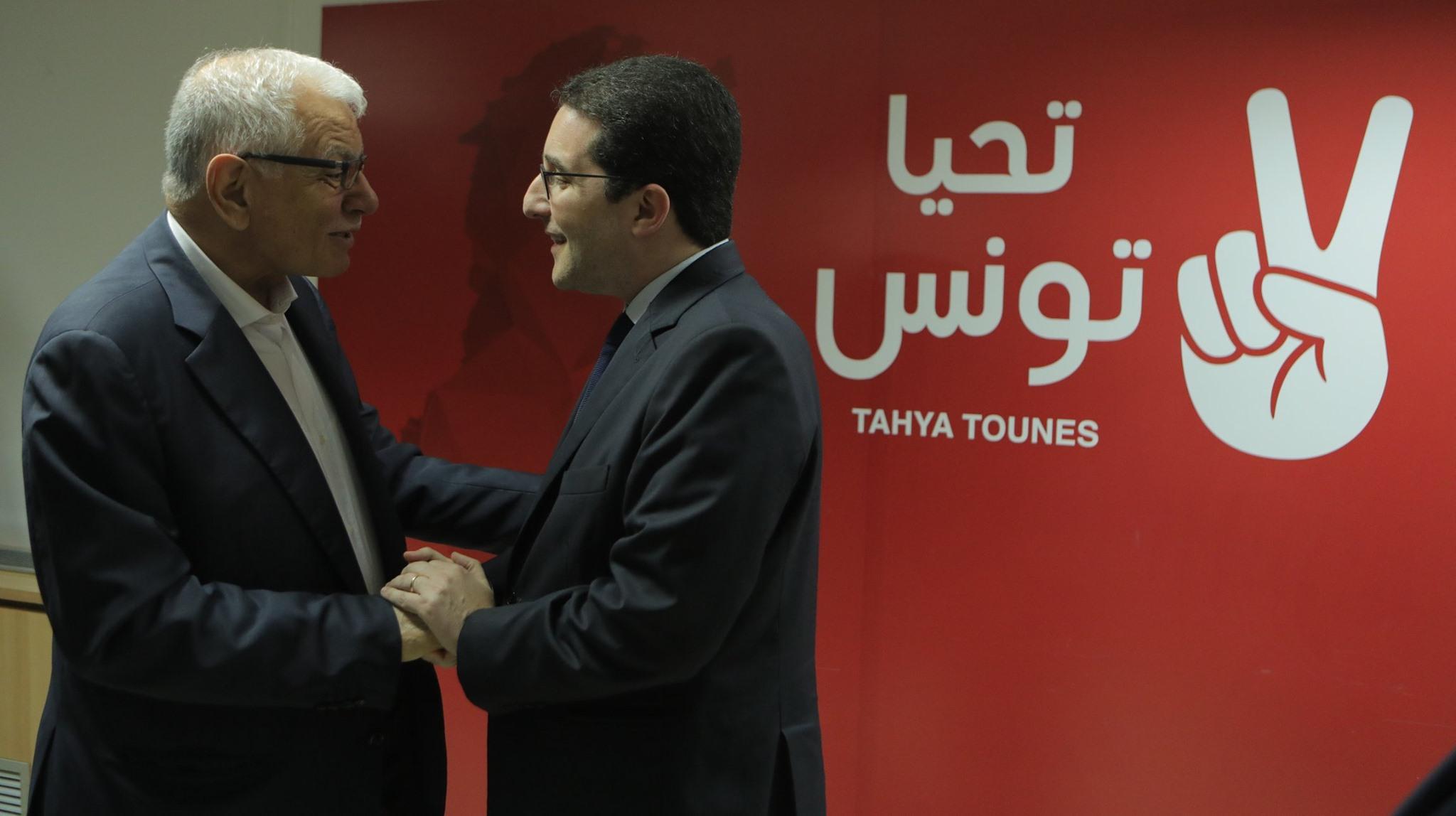 """رسمي: اندماج حزبي """"تحيا تونس"""" و""""المبادرة"""""""