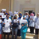 احتجاجات يومية لأعوان وإطارات المؤسسات الصحية برمادة وذهيبة