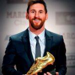 ميسي يفوز بجائزة الحذاء الذهبي