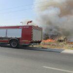 القصرين: اندلاع حريق بأرض فلاحية تابعة للدولة