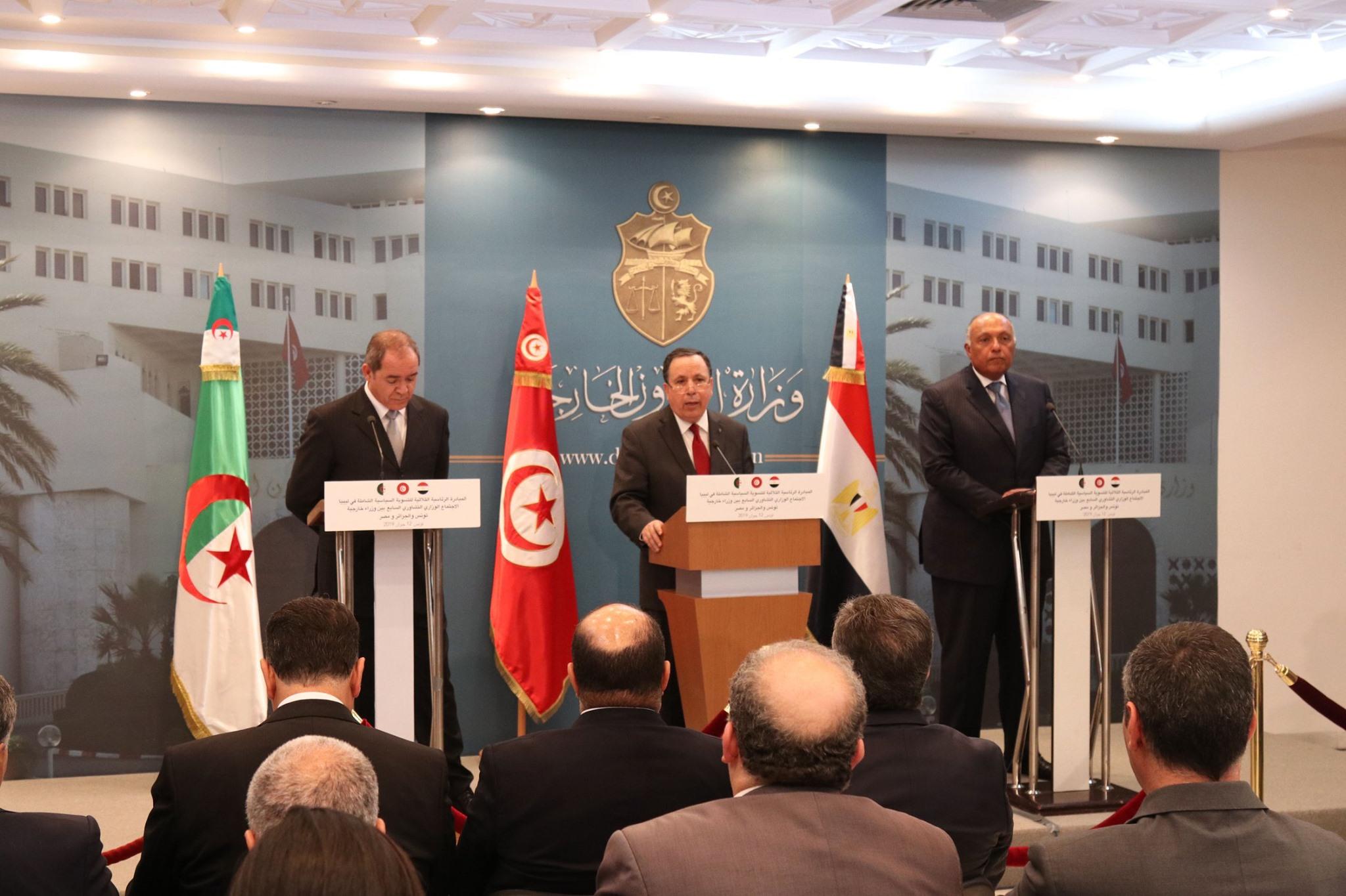 الملف الليبي: تفاصيل اجتماع وزراء خارجية تونس والجزائر ومصر