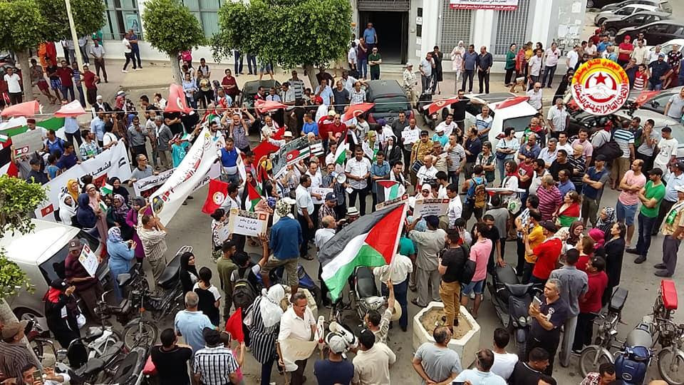 صفاقس: مسيرة ضد التطبيع ( فيديو)