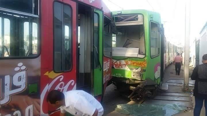 مسؤول بشركة نقل تونس: خطأ بشري وراء اصطدام المترو رقم 5 بأخر