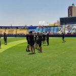 المنتخب الوطني يكتشف ملعب الإسماعيلية