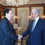 الملف الليبي محور لقاء الناصر بوزير الشؤون الخارجية