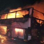 السعودية: مقتل 35 معتمرا في حادث مرور مروع (صور )