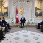 قيس سعيد يستقبل رئيسي برلمان المغرب ومجلس مستشاريه