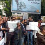 """في وقفة احتجاجية: أهالي جندوبة يطالبون """"الصوناد"""" بابدال قنوات توزيع مُسرطنة  (صور)"""