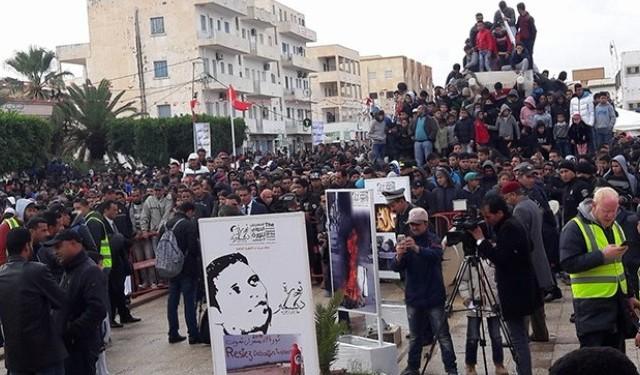 سيدي بوزيد تحيي اليوم الذكرى التاسعة لاندلاع الثورة