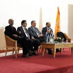 الغنوشي ونبيل القروي في المجلس الوطني لحزب التيار