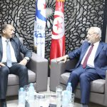 لقاء بين راشد الغنوشي ومحمد عبو