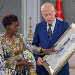 قيس سعيد يستقبل الأمينة العامة للمنظمة الدولية للفرنكوفونية