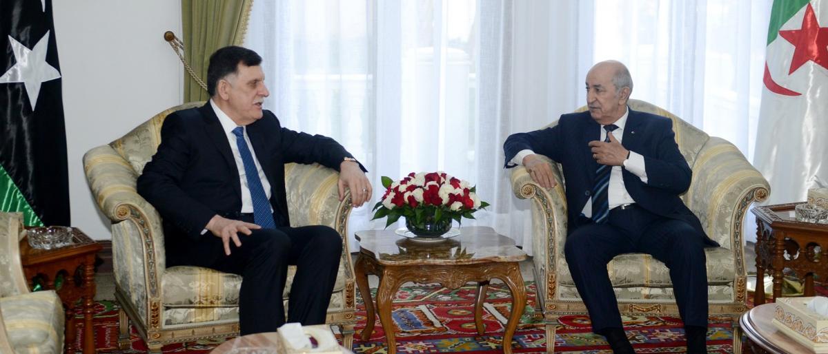 رئيس الجزائر للسراج: التدخل الأجنبي يُهدّد وحدة دُول المنطقة ويمسّ بأمنها