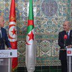 """تبون إثر محادثاته مع سعيّد: تونس والجزائر بداية الحلّ للأزمة الليبيّة و""""صفقة القرن"""" مرفوضة"""