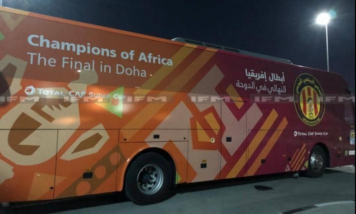 الاعتداء على حافلة الترجي في الدوحة