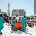 مع انتشار كورونا: تنظيف وتعقيم مُصلّيات المسجدان الحرام والنبوي 4 مرات يوميا