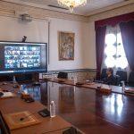 اجتماع عبر تقنية التواصل المرئي للهيئة الوطنية لمجابهة كورونا