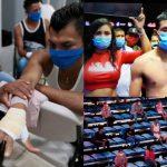 نزال ملاكمة مثير للجدل في زمن كورونا (صور)