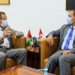 المكّي يلتقي سفير فلسطين بتونس