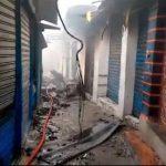 """بعد 4 ساعات :السيطرة على حريق هائل شبّ بمحلات """"فريب"""" في الحفصية"""