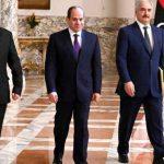 أعلنها اليوم بحضور حفتر وصالح: حكومة السراج والمشري يرفضان مبادرة السيسي