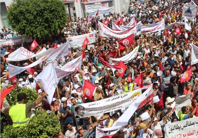 مصدر أمني رفيع المستوى : مظاهرة الاتحاد بصفاقس الأهم منذ 2013 وشارك فيها 7000 شخص