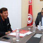 وزير الرياضة يستقبل رئيس جامعة كرة السلّة