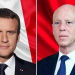 سعيّد لماكرون: تونس لن تكون جبهة خلفية لأي طرف بليبيا