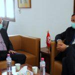وزير الصحة يلتقي نور الدين الطبوبي