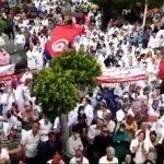 اتحاد الشغل بصفاقس: وقفة احتجاجيّة وشعارات مناهضة للغنوشي والعفّاس (فيديو)