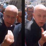 بسبب اعتصام الكامور: فوضى وغضب في لقاء سعيّد بتونسيين في فرنسا
