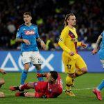 غول كورونا يهدّد موقعة برشلونة ونابولي من جديد