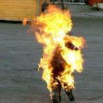 القيروان: عسكري يضرم النار في جسده أمام المارة