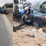 المحرس: 18 مصابا في اصطدام بين سيارة وشاحنة خفيفة