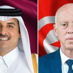 سعيد لأمير قطر: لا يجب أن تحول الأوضاع السياسية بتونس دون تطوير العلاقات الثنائية