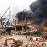 شهر ونصف بعد الإنفجار الرّهيب: حريق ضخم بمرفأ بيروت /فيديو