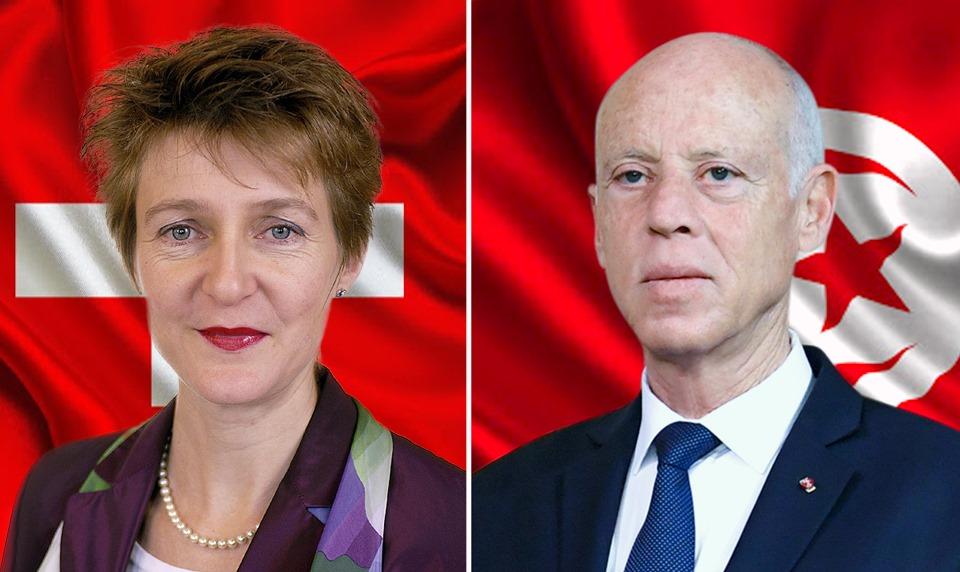 الرئاسة: ملف الأموال المنهوبة في مكالمة بين سعيّد ورئيسة الكنفدرالية السويسرية