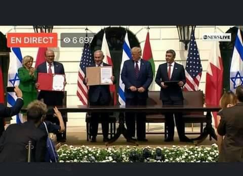 الإمارات والبحرين وإسرائيل تُوقّع على اتفاقية التطبيع