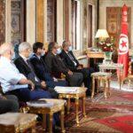 منهم توفيق بكار وفاضل عبد الكافي: الغنوشي يلتقي عددا من وزراء المالية السابقين