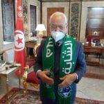 رئيس هلال الشابة في مكتب الغنوشي