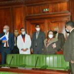 بن علية والوزير يُعاينان فضاءات البرلمان وظروف العمل به