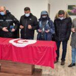 انطلاق مراسم نقل جثمان الراحلة محرزية العبيدي من فرنسا (صور)