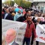 رافعين صورة قيس سعيّد: مُحتجّون في العاصمة يُطالبون بحلّ البرلمان