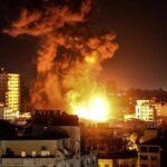 في اليوم الثامن للعدوان: الطيران الاسرائيلي يشنّ 80 غارة مُكثّفة وعنيفة على قطاع غزّة