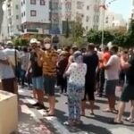 صفاقس: إطلاق الغاز المسيل للدموع لمنع المُحتجّين من الاقتراب من مقر النهضة