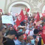 العاصمة: وقفة احتجاجية تُندّد بإجراءات قيس سعيّد /فيديو